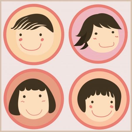 Cara de los niños