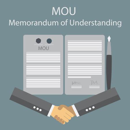 an understanding: memorandum of understanding Illustration
