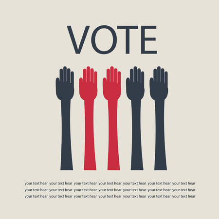 polling place: Hands vote.