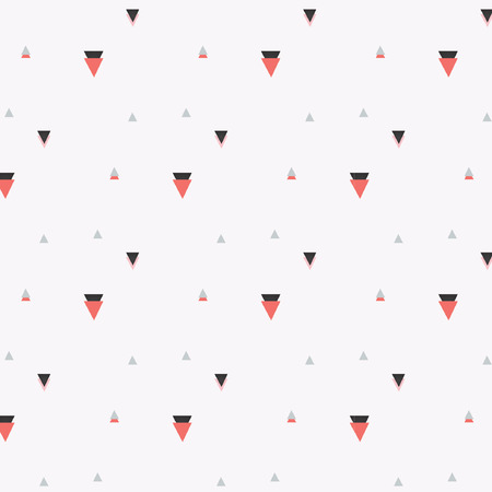 networked: Pattern With Triangle Illustration