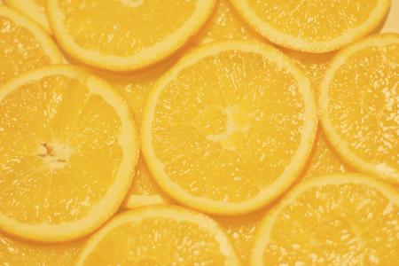 Group of High resolution circular orange slices background