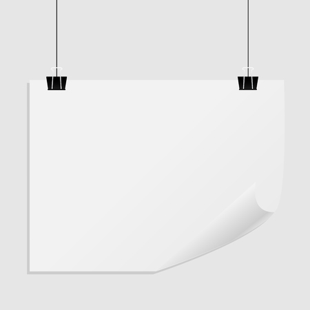 Hanging paper poster on wall poster.