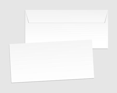 z fold: Blank paper envelopes for your design. Vector envelopes template Illustration