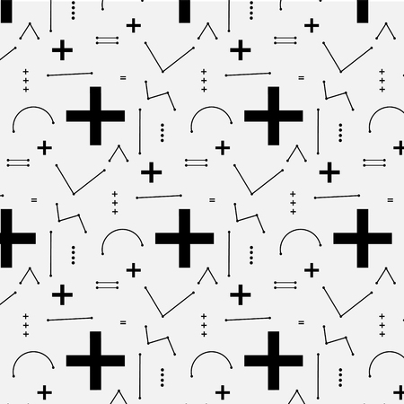 memphis: Geometric Flat Memphis Pattern. Illustration