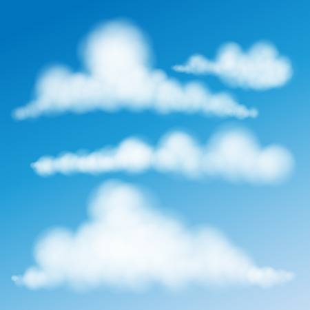 cirrus: Set Of Clouds Vector Eps 10. Illustration