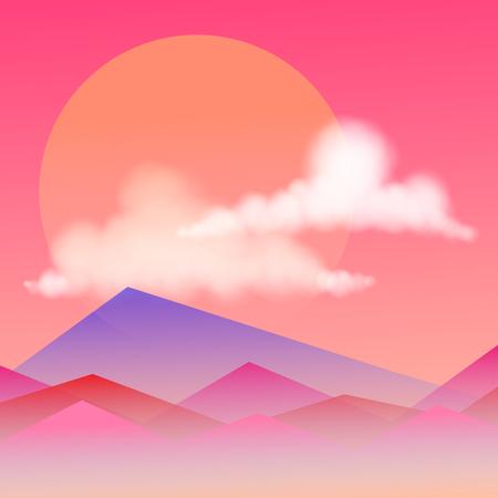 風景パステル カラーのベクトルの背景。