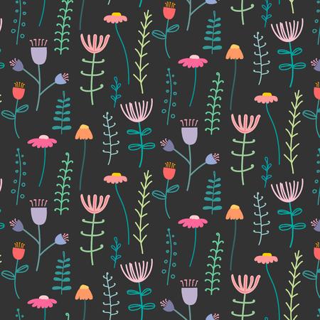 Pattern With Elegant Lovely Flower. Vector Illustration.