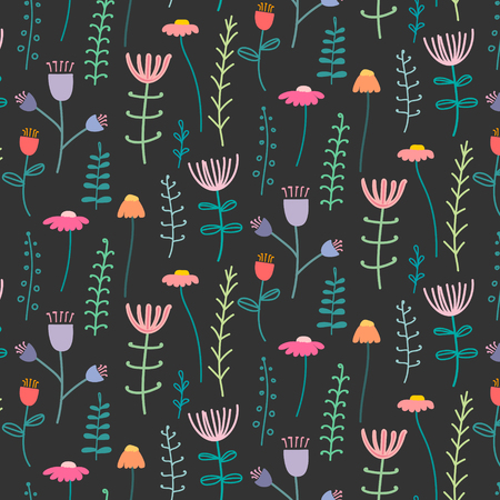 Pattern With Elegant Lovely Flower. Vector Illustration.