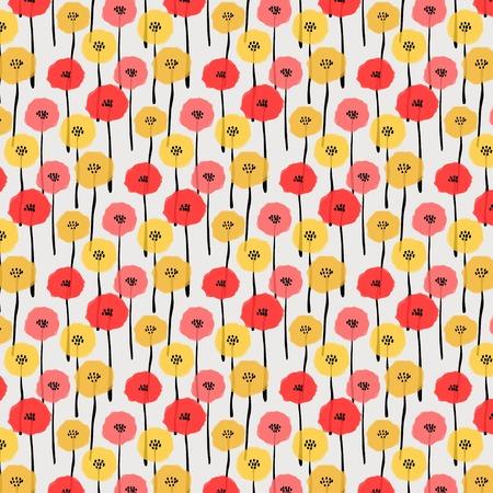 Flower pattern image illustration Illustration