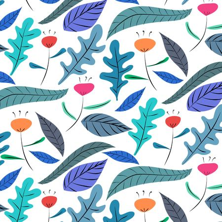 Hand Drawn Floral Pattern Background. Vector Illustration. Ilustrace