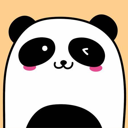 Cute Panda Vector Illustration Background.