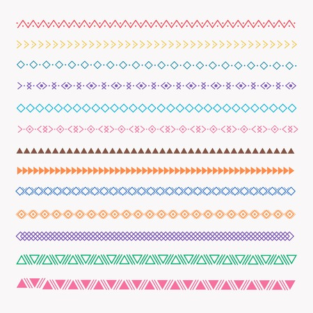 Set Of Colorful line grunge hand drawn textures.