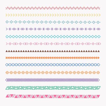 Set Of Colorful line grunge hand drawn textures. Illustration