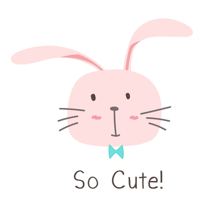 Little Bunny So Cute Background. Illustration