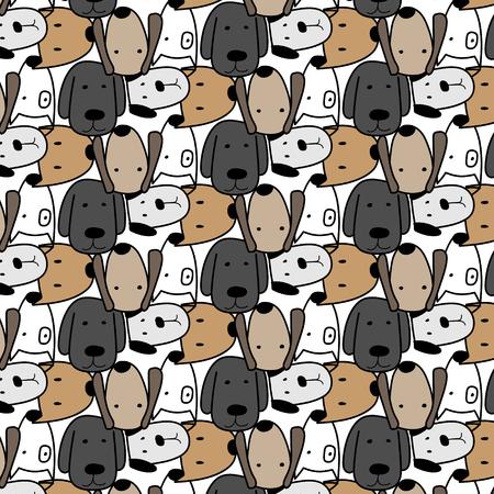 Cute Dog Pattern Background.