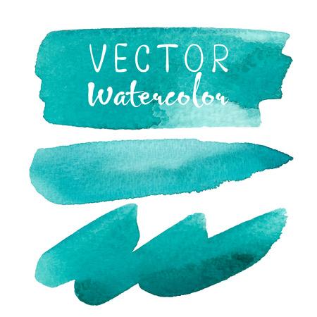 Set of watercolor brush on white background. Illustration