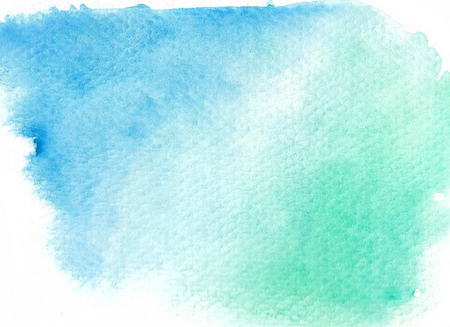 Green abstract watercolor background. Hand painted illustration. Stock fotó