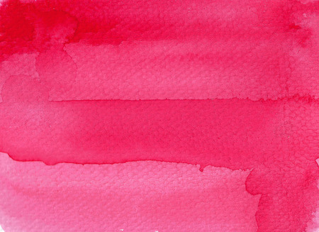 Red abstract watercolor background. Hand painted illustration.