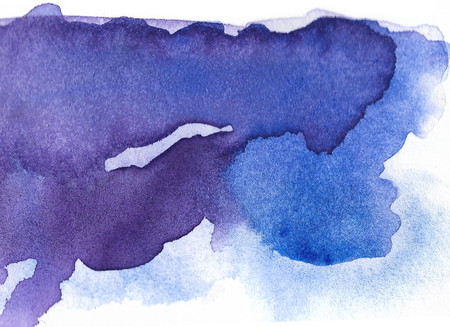 Abstract Watercolor Background. Hand Painted Illustration Stock Photo