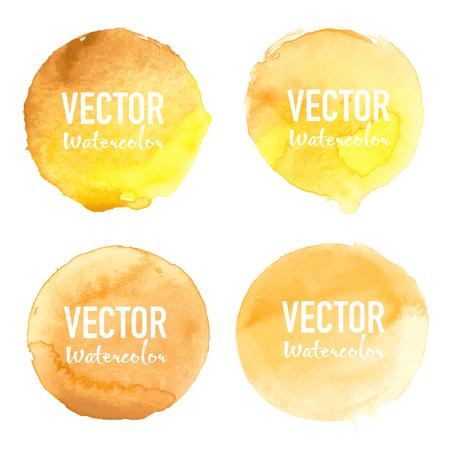 Watercolour circle set on white background. Vector illustration. Illusztráció