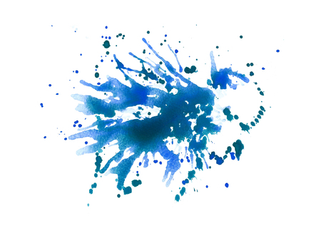 Splash abstract watercolor background. Hand painted illustration. Imagens