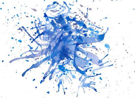 Splash abstract watercolor background. Hand painted illustration. Stock Photo