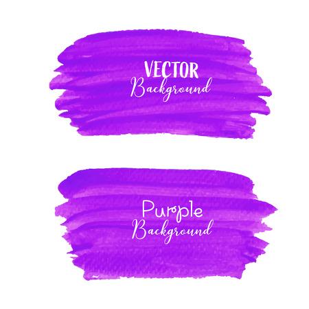 Purple brush stroke isolated on white background, Vector illustration. Ilustrace