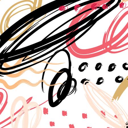 Abstract pattern brush stroke background. Vector illustration. Ilustrace
