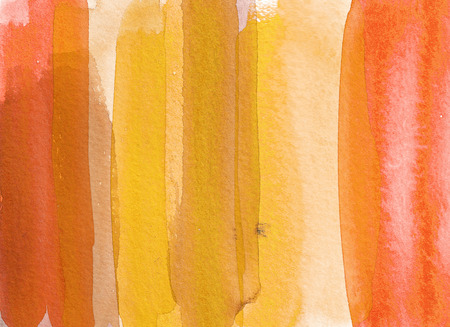 Yellow abstract watercolor background. Hand drawn illustration. Reklamní fotografie