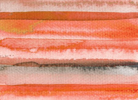 Orange abstract watercolor background. Hand drawn illustration.
