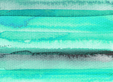 Mint green abstract watercolor background. Hand drawn illustration.