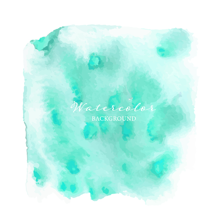 Mint watercolor abstract background, Vector illustration. Ilustrace