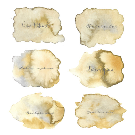 Abstract watercolor background. Vector illustration.