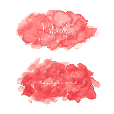 Abstract watercolor background. Watercolor element for card. Vector illustration. Ilustrace