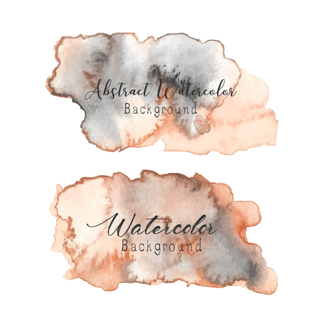 Abstract watercolor background. Watercolor element for card. Vector illustration. Illustration