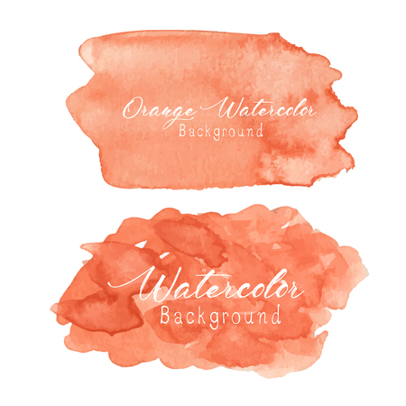 Orange abstract watercolor background. Vector illustration. Ilustrace