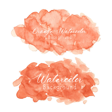 Orange abstract watercolor background. Vector illustration. 일러스트