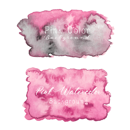 Pink abstract watercolor background. Watercolor element for card. Vector illustration.