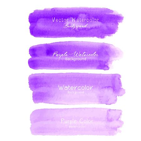 Purple brush stroke watercolor on white background. Vector illustration. Ilustrace
