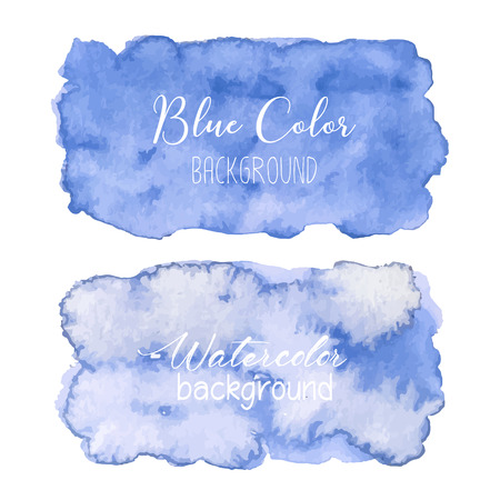Blue abstract watercolor background. Watercolor element for card. Vector illustration. Ilustrace