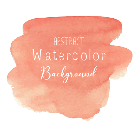Orange abstract watercolor background. Vector illustration. Illustration