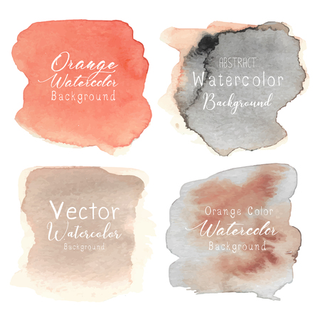 Orange abstract watercolor background. Vector illustration. Illustration