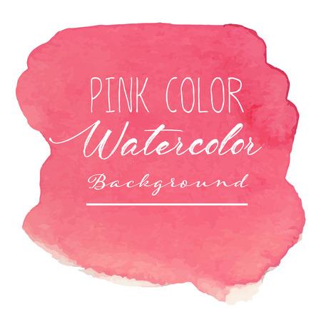Fondo de acuarela abstracta rosa. Ilustración vectorial. Ilustración de vector