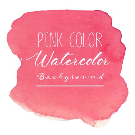 Pink abstract watercolor background. Vector illustration. Vetores