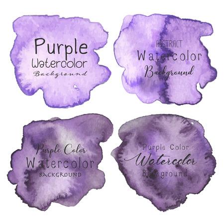 Purple abstract watercolor background. Vector illustration. Ilustração