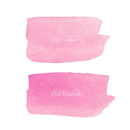 Pink watercolor background, Pastel watercolor logo, Vector illustration.