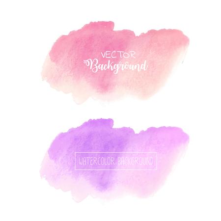 Pastel watercolor background, Pastel watercolor logo, Vector illustration.