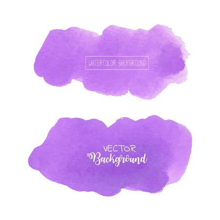 Purple watercolor background, Pastel watercolor logo, Vector illustration. Reklamní fotografie - 119964662