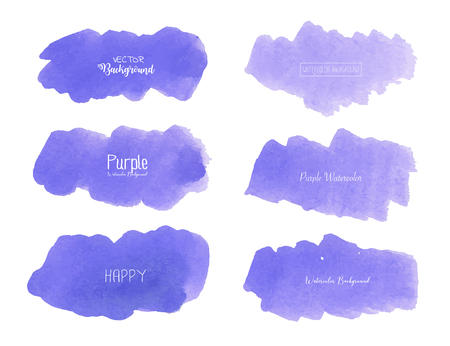 Purple watercolor background, Pastel watercolor logo, Vector illustration. Reklamní fotografie - 120518026