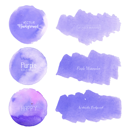 Purple watercolor background, Pastel watercolor logo, Vector illustration. Reklamní fotografie - 120518011